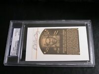 William Bill Terry Autographed HOF Cut PSA Certified Encapsulated