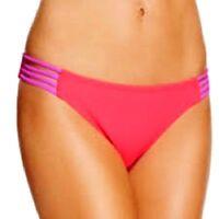 Hula Honey Strappy Hipster Bikini Bottom Ginger/Lilac Size Large