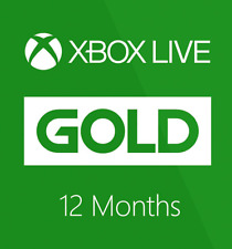12 MONTHS XBOX LIVE GOLD MEMBERSHIP FOR XBOX 360 / XBOX ONE