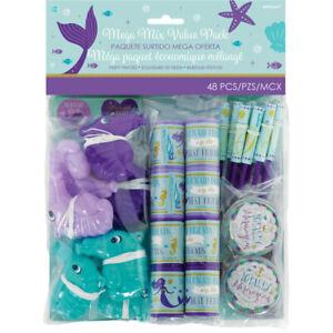 Party Supplies Birthday Girls Disney Ariel Mermaid Wishes Favor Mega Value Pack