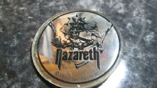 More details for vintage nazareth mirrored pin badge 6cm mountain records