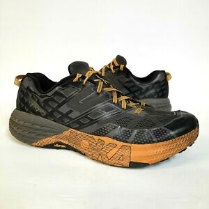 Hoka One One Mens 13 Speedgoat 3 Shoes Sneakers Grey Orange Running (2040476)