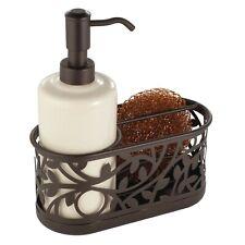 Interdesign Vine Kitchen Sink Soap Dispenser Pump And Sponge Caddy In Bronze NEW