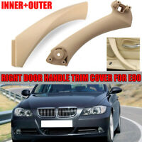 RIGHT SIDE Beige INNER OUTER DOOR PANEL HANDLE PULL TRIM COVER FIT BMW E90