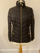 BNWT STUNNING BARBOUR Aubern Black Feather And Down Jacket Size 12 RRP £149.00