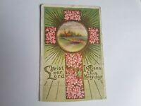 Greeting Postcard Vintage Happy Christ Your Lord