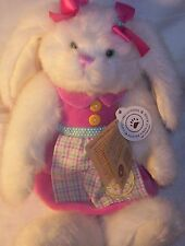Retired Boyds White Bunny Rabbit Hare Harrietta Hoppellbuns Plush Collectible