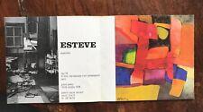 carton Exposition Maurice Esteve Aquarelles 1978 Galerie Claude Bernard Fiac