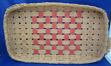 Decorative Wicker Wall Basket Porch Checker Board Game Country Heart Pieces