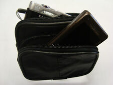Small Soft Leather Belt Pouch Ideal for Travel/Phone/Taxi