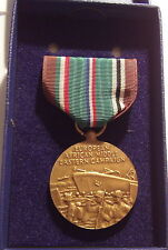 VINTAGE WW II U.S. Coast Guard European African Campaign Medal in Box