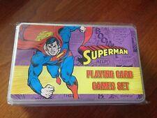 DC Comics Supeman Presentation Tin - Playing Cards Games Set - NEW