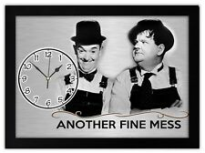 LAUREL AND HARDY Another Fine Mess GIFT MANTEL OR DESK CLOCK Home Decor