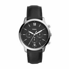 Fossil Herren-Armbanduhr Neutra Chrono Analog Quarz mit Leder-Armband FS5452