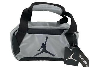 Nike Air Jordan Insulated Lunch Bag Gray Black Tote Box Jumpman Logo Cooler New