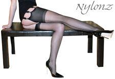 3 pairs NYLONZ Luxury Seamed Nylon Stockings Black - Tall / Slender Size