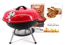 Charcoal Barbecue Cooking Grill Chrome Plated,Red, 14 Inches