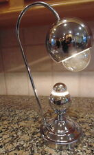 RARE MID CENTURY MODERN CHROME EYE BALL DESK LAMP HEYCO  2 BULB  LIGHT