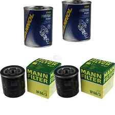 2x Original MANN Ölfilter W 68/3 + 2x SCT Motor Flush Motorspülung