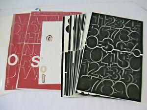 """Stick On Vinyl Letter Number Assortment Red 1.5"""" Black 2""""&3"""" White 3"""""""