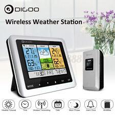 DIGOO Color Wireless Weather Station Thermometer USB Forecast Sensor Clock