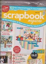SCRAPBOOK MAGAZINE UK #83 SEALED WITH FREE DESIGNER PAPER PACK.