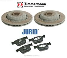 For Mercedes W164 ML63 W251 R63 AMG Set of Rear Left & Right Brake Rotors & Pads