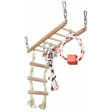 Trixie Suspension Bridge Cage Hanging Toy with Rope Ladder for Hamster/Mice Wood