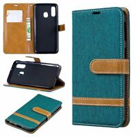Samsung Galaxy A40 Étui Coque Téléphone Portable Protection Sac à Clapet Vert