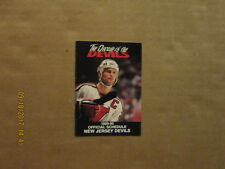 NHL New Jersey Devils Vintage Circa 1989-90 Logo Hockey Pocket Schedule