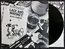 ALICE COOPER SIGNED LACE AND WHISKEY LP VINYL RECORD ALBUM W/COA