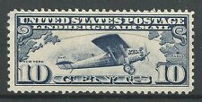 U.S. Airmails Scott C-10 Gorgeous 1927 Lindbergh - MLH Single Cat Val. $13.00