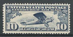 U.S. Airmails Scott C-10 Gorgeous 1927 Lindbergh - MLH Single Cat Val. $13.00