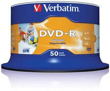 Verbatim 43533 DVD-R 4,7 GB 16x Speed Printable bedruckbar Rohling 50er Spindel