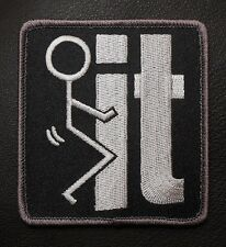 F*CK IT TACTICAL MILITARY ISAF COMBAT BADGE SWAT VELCRO® BRAND FASTENER  PATCH