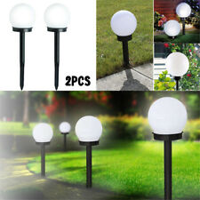 2Pcs Outdoor Garden LED Solar Landscape Pathway Walkway Path Lights Yard Lamp