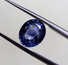 4.06 Ct Natural Blue Sapphire Old Mine Sri-Lanka Untreated Loose Gem VS Clarity