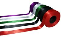 Double Sided Satin Ribbon 1/2'' 12mm Set of 5 Rolls 90yds total length Craft Art