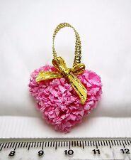 1:12th Valentine Wreath Heart Shape Front Door (Pink)