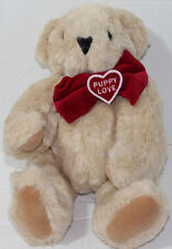 Vermont Teddy Bear Company BROWN PUPPY LOVE JOINTED Legs Arms Neck PLUSH TOY