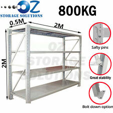 Longspan Shelving Warehouse Racking Garage Storage Shelves 2M x 2M x 0.5M