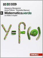 Matematica.verde 3 con Maths in English ZANICHELLI BERGAMINI cod.9788808199614
