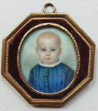 Miniatur Portrait, eines Kindes, Gouache, vor 1900