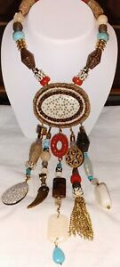 Beautiful Chicos Necklace W/ Genuine and Faux Stones and Glass Beads