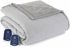 Shavel Sherpa Electric Blanket King - Greystone - NEW