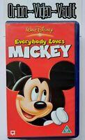 Everybody Loves Mickey Vhs Children's Walt Disney Retro Video Tape VGC