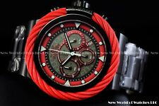 New Invicta 50mm Bolt Sport Chronograph Red MUSTANG Black SS Diver Watch