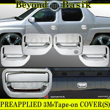 2006-2014 HONDA RIDGELINE Chrome Door Handle Covers+Tailgate no cam Overlay Trim