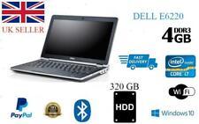 """Dell Latitude E6220 12.5"""" Intel Core i7 2nd Gen Laptop 4GB 320GB Windows 10 WIFI"""