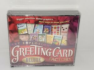 Art Explosion Greeting Card Factory Deluxe PC CD ROM.NEW SEALED